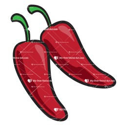 chili pepper clipart simple vector illustration of a pair of red chili peppers next to [ 1500 x 1500 Pixel ]