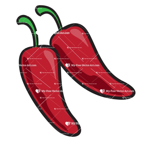 small resolution of chili pepper clipart simple vector illustration of a pair of red chili peppers next to