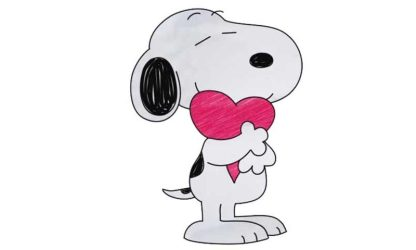 snoopy draw heart drawing cartoon drawings characters character archives fictional paintingvalley