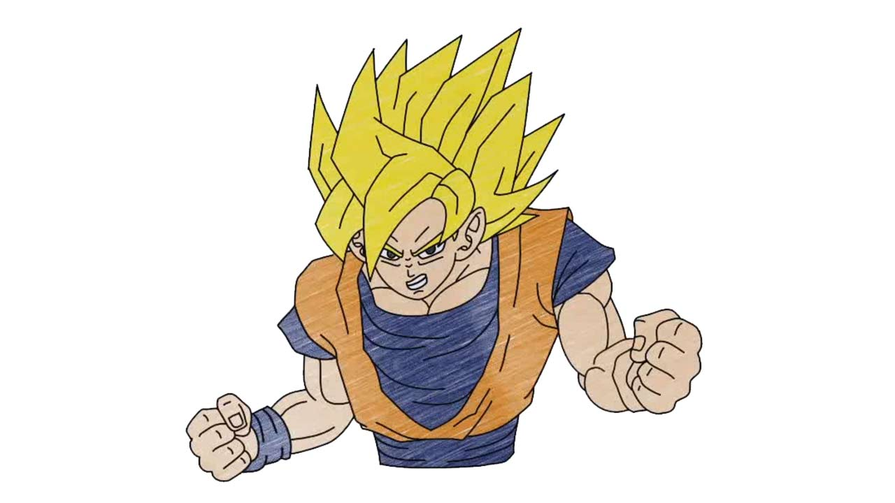 Easy Drawings Of Dragon Ball Z Characters How To Draw Goku Super