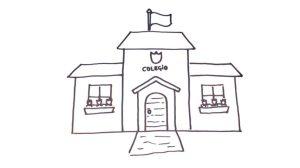 draw drawing simple escuela dibujar colegio una como paso step drawings