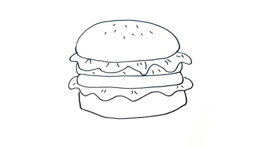 How To Draw A Hamburger My Ho To Draw