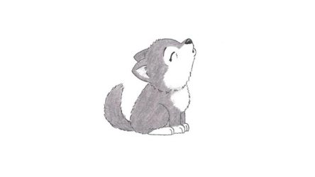 wolf draw howling easy drawings furry