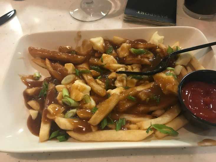 Local specialty - Poutine - fries/cheese curds/gravy