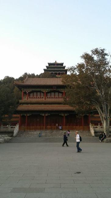 Looking up at Jingshan Park