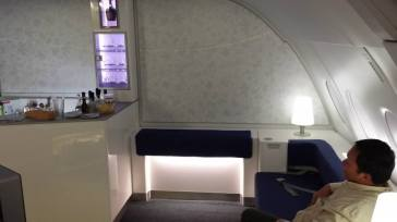 """A-380 """"meeting area""""...just like a 747 from 1972."""