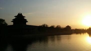 Sunset at corner of Forbidden City