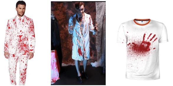 Mandlige læge-maniac kostume
