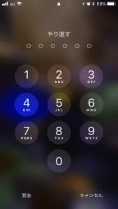 iPhone パスコード