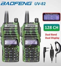 2 x baofeng uv82 walkie talkie 5w vhf uhf uv 82 portable walkie talkies 2800mah [ 1000 x 1000 Pixel ]