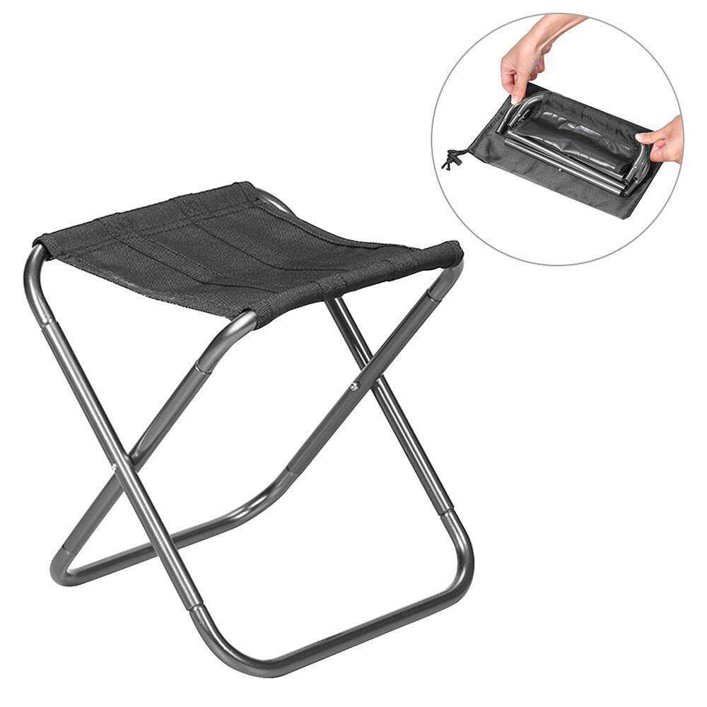 folding chair portable clear plastic covers for dining chairs camping hiking buy untiemall durable compact ultralight stool seat with a carry bag