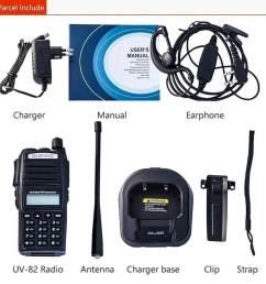 walkie talkie baofeng uv82 5w vhf uhf uv 82 portable walkie talkies 2800mah dua arah [ 960 x 960 Pixel ]