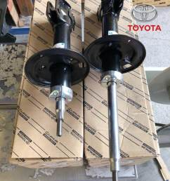 toyota vios ncp93 2007 2012 front absorber set left and right 48510 0d263 48520 [ 768 x 1024 Pixel ]
