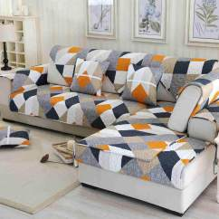 Latest Design Sofa Covers Plastic Replacement Legs For Home Slips Buy At Best Watson Orange Twill Pattern Cover Towel Slipcover Plush Fabric Non Slip Couch