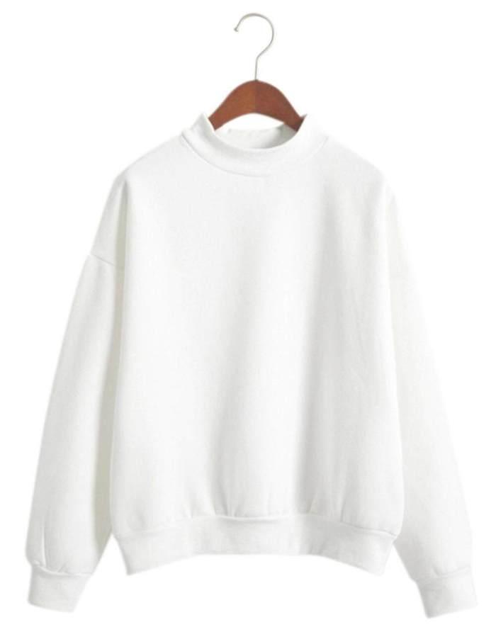 RD Women Cotton Shirt Round Collar Sweater Hoodie