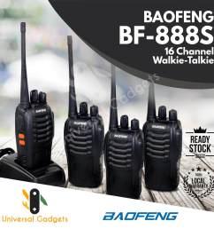 2 pair 4 units baofeng bf 888s bf888s bf 888 bf 888s [ 2000 x 2000 Pixel ]