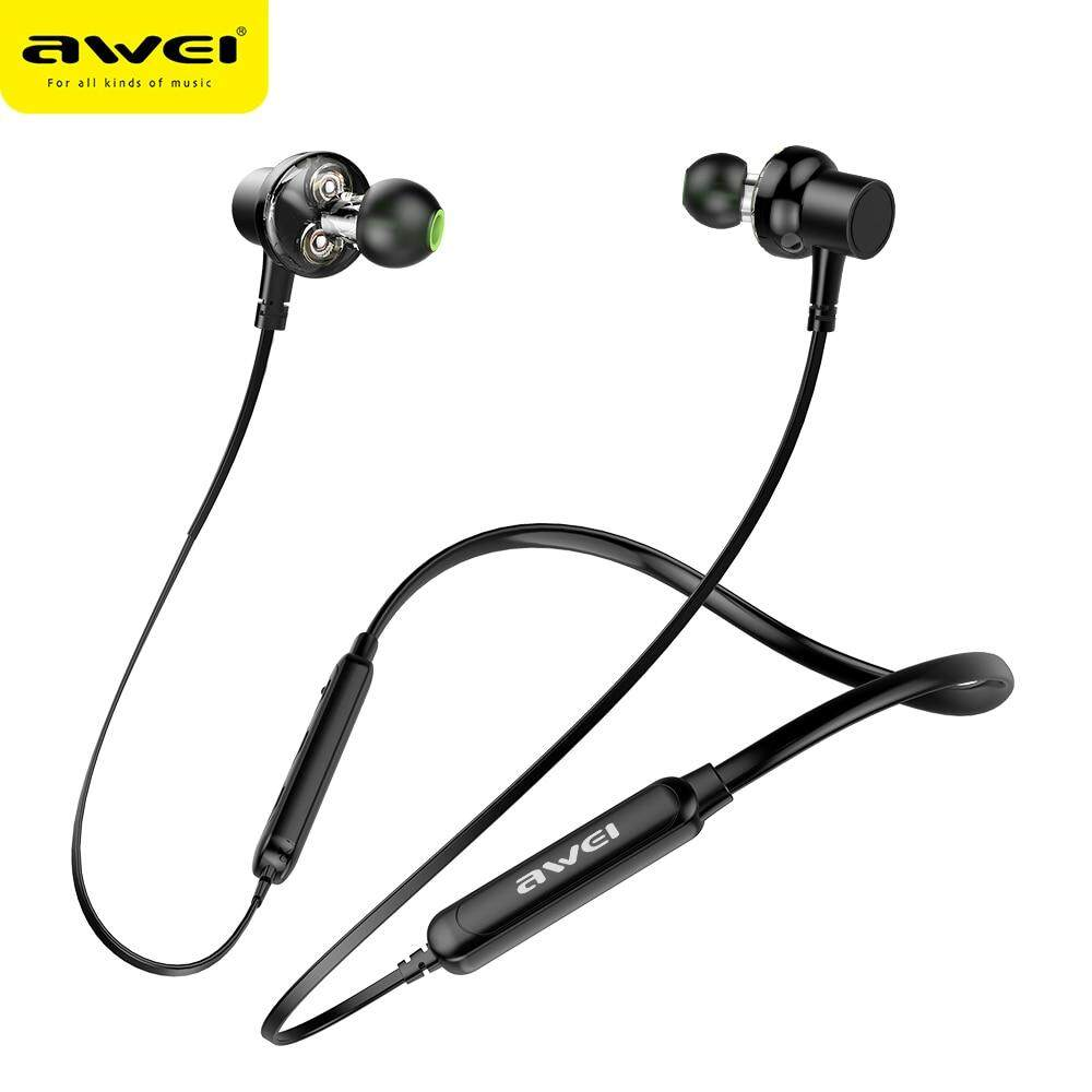 hight resolution of awei g20bl bluetooth earphone headphone dual driver headset wireless sport earphone bass sound auriculares inalambrico bluetooth