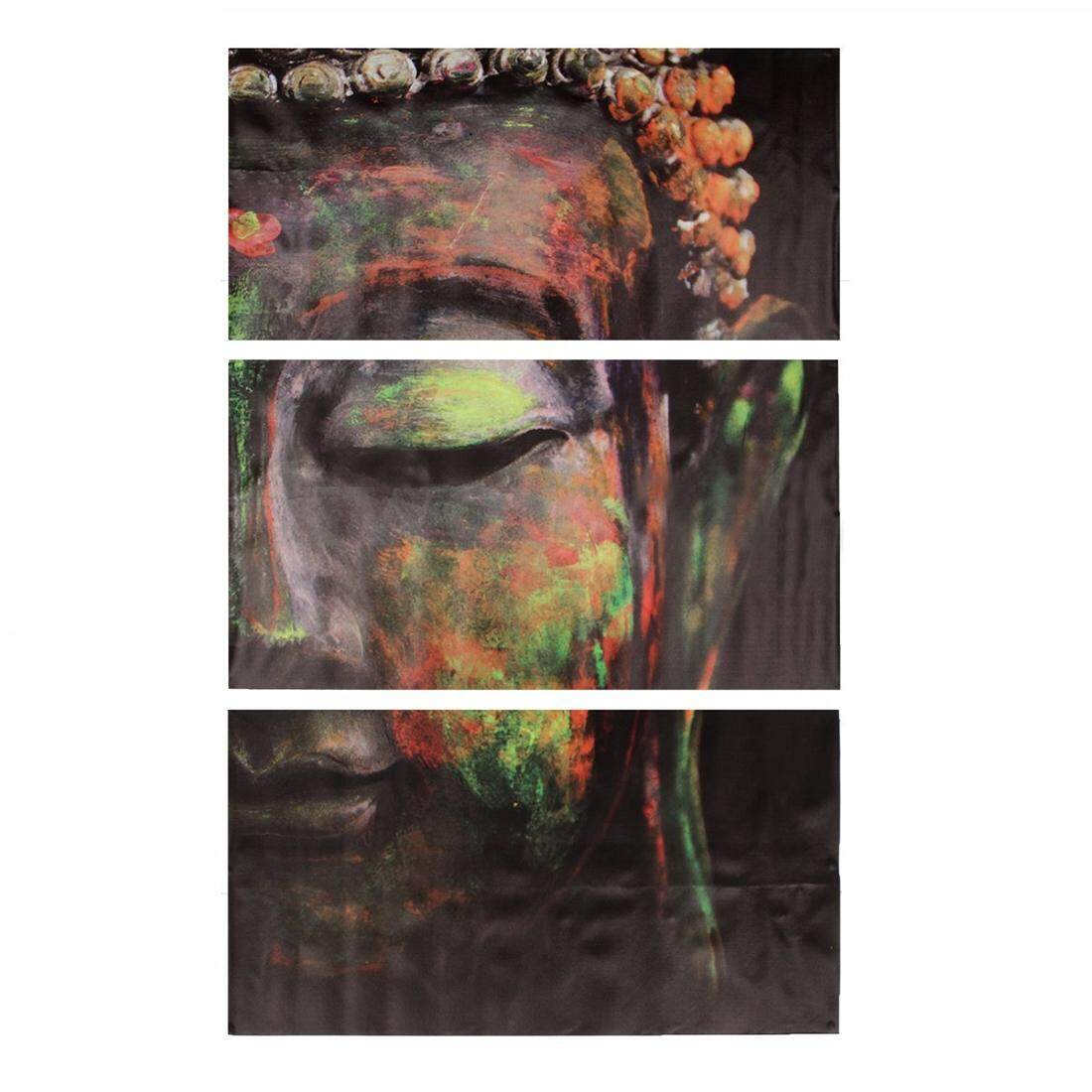 hight resolution of 3pcs set buddha oil painting wall art picture canvas prints home decor