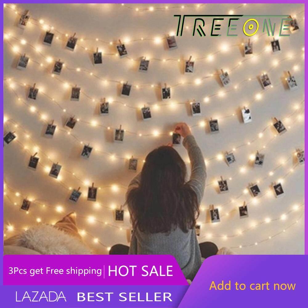 medium resolution of treeone 3m20 led photo clips string lights christmas lights starry light wall decoration light