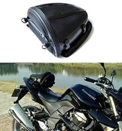 motorcycle rear seat bag waterproof luggage tail bags helmet saddlebag [ 1001 x 1001 Pixel ]