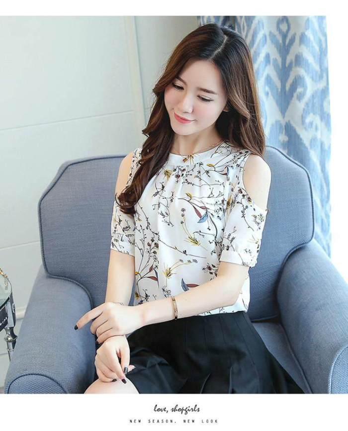 INWPLLR Summer Style 2018 Floral Shirt Women Casual Open