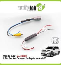 audiolab honda brv 8pin socket camera in replacement kit al 30brv [ 1920 x 1920 Pixel ]