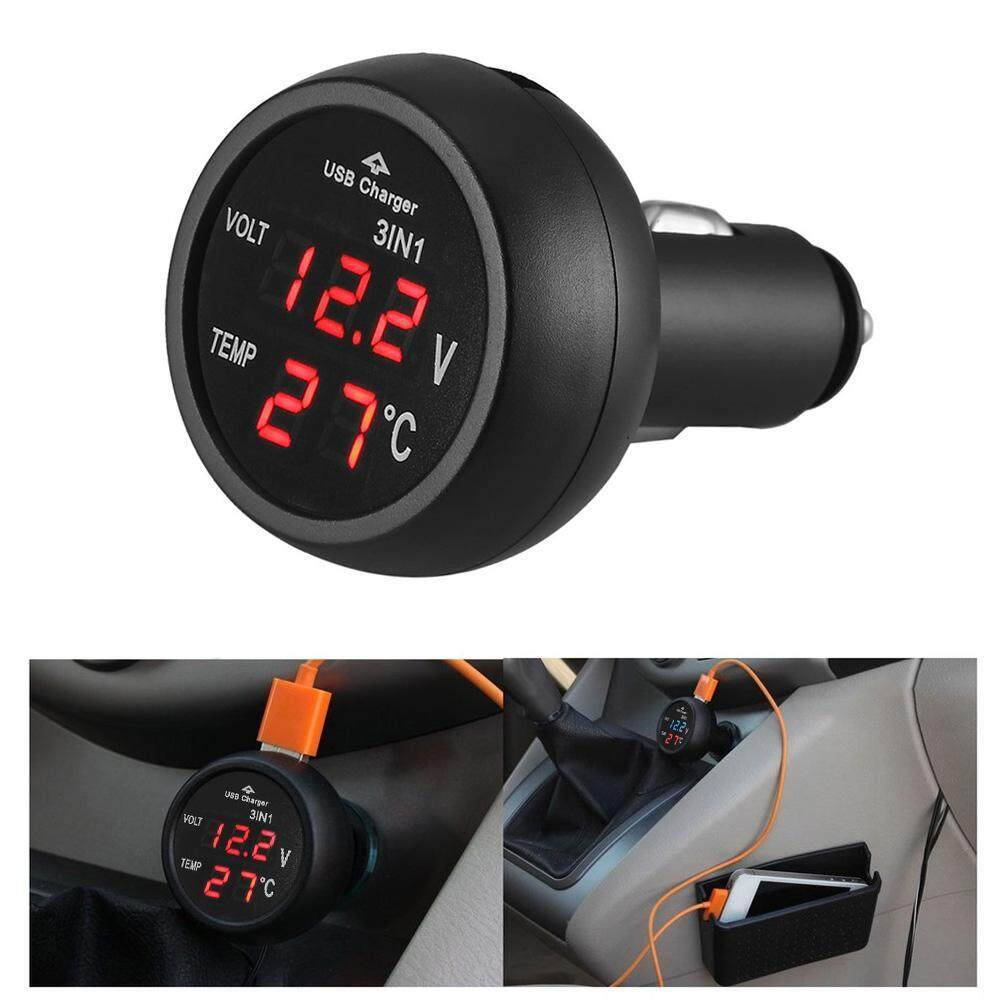 hight resolution of  cheerfulhigh 3 in 1 12 24v car auto led digital voltmeter gauge