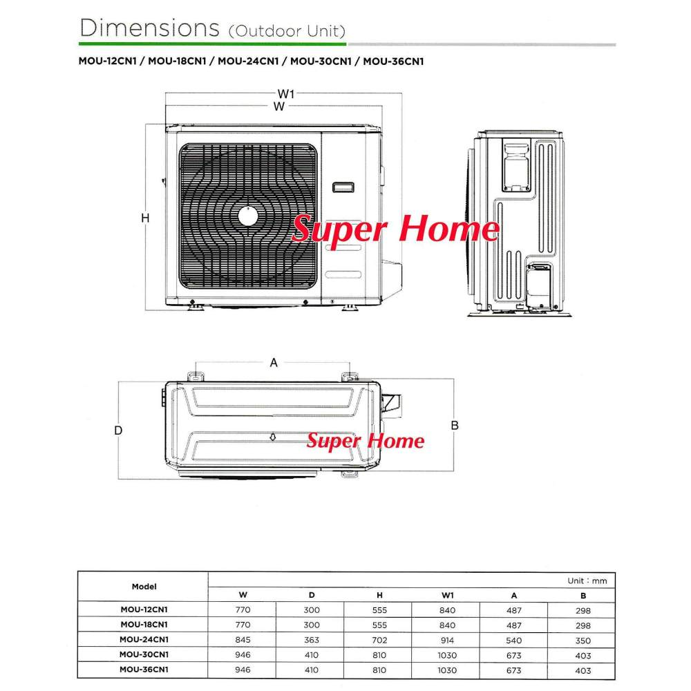 medium resolution of indoor dimension w x d x h 840 x 840 x 205 mm 23kg