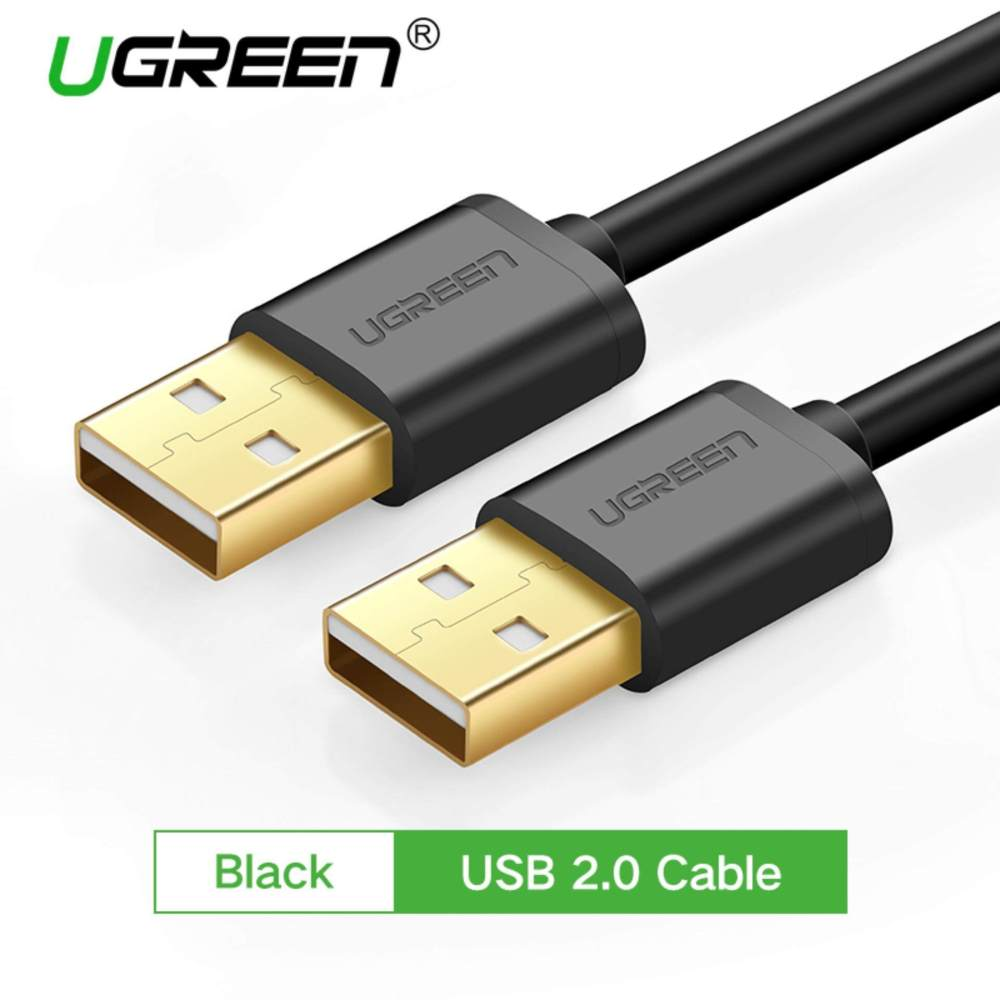 medium resolution of ugreen 3m gold plated usb 2 0 male to male extender cable black