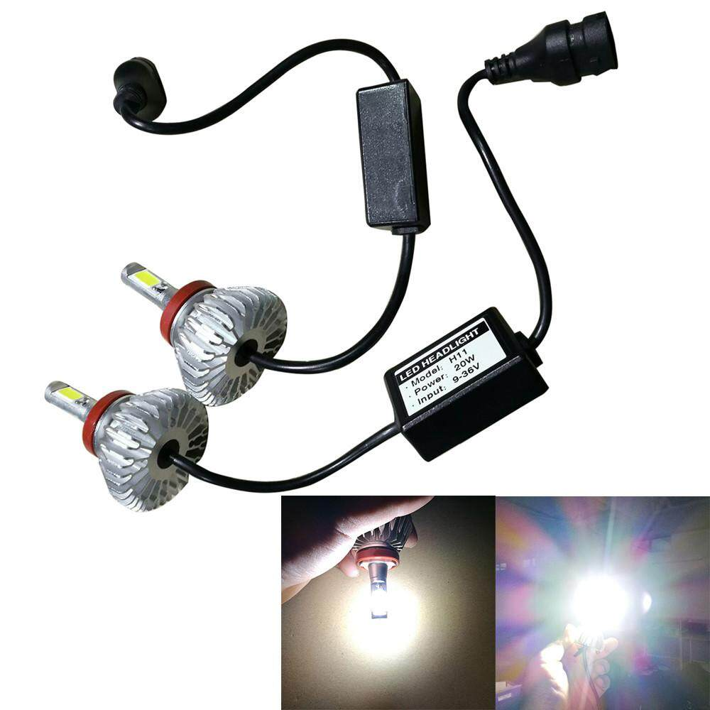 hight resolution of  dickeystore 40w v2 3600lm led h8 headlight kit low beam bulbs 6500k white high