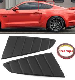 2x side window louver vent scoop cover c style for ford mustang gt 2015 2018 [ 1200 x 1200 Pixel ]