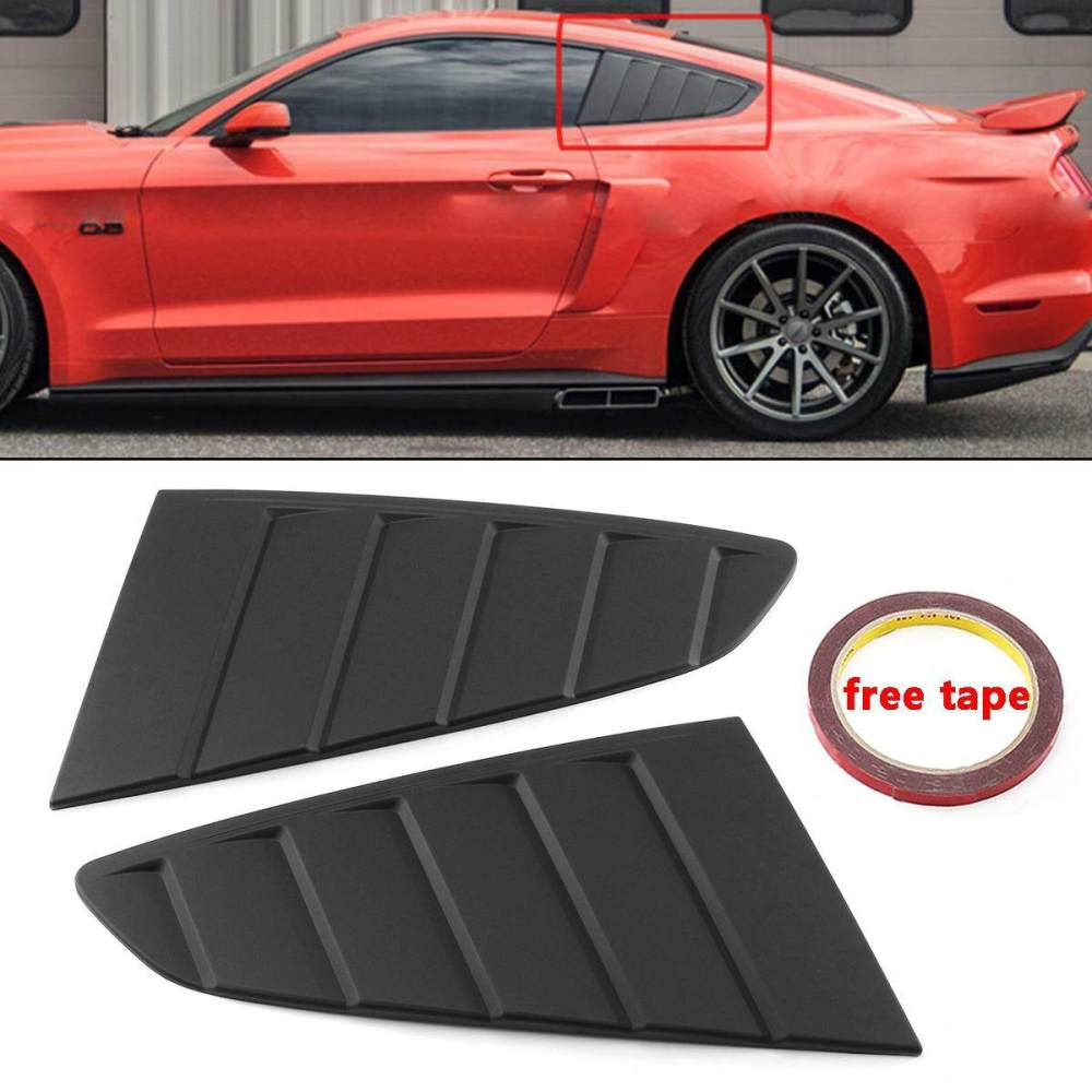 medium resolution of 2x side window louver vent scoop cover c style for ford mustang gt 2015 2018