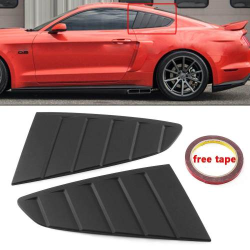 small resolution of 2x side window louver vent scoop cover c style for ford mustang gt 2015 2018