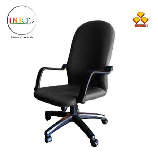 back support for office chair malaysia white slipcover inicio 3v mid full fabric seat swivel