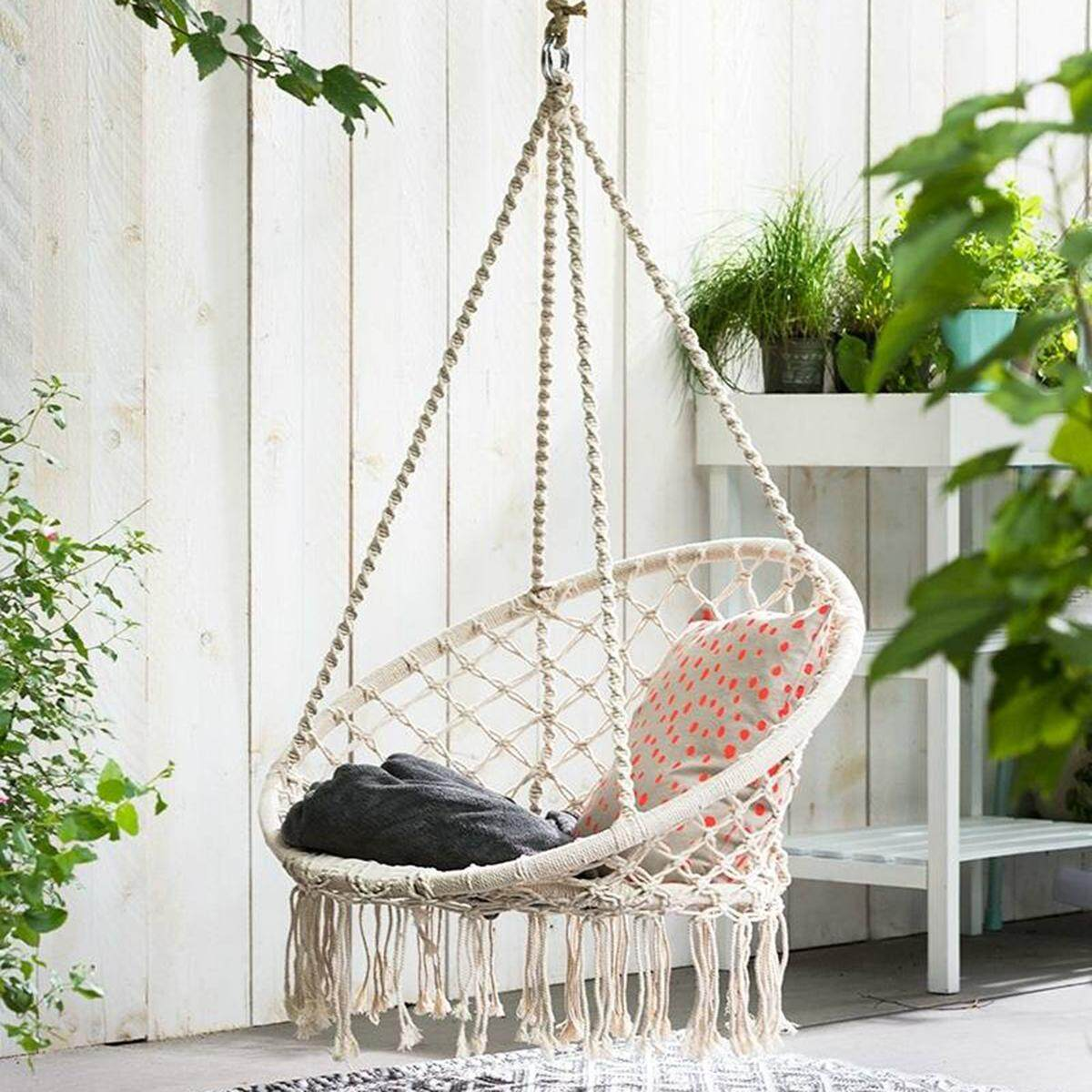 swing chair with stand malaysia small 4 dining table set swings buy at best price in www lazada com my macrame hammock relax luxury comfort handmade shabby cream