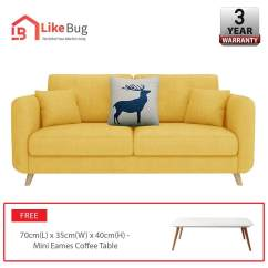 Sofa Tantra Di Malaysia Latest Models Home Sofas Buy At Best Price In Www Lazada Like Bug Roosevelt 2 Seater Living Room Furniture With Free Coffee Table