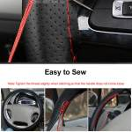 Geepact Universal Pu Leather Diy Car Steering Wheel Cover Case Non Slip No Smell Thin Auto Steering Wheel Cover Protector Suitable For All Cars 38cm With Needles Thread Lazada Ph