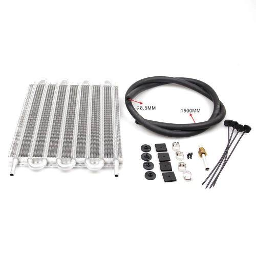small resolution of 8 rows aluminum remote transmission oil cooler auto manual radiator converter kit useable to cool down engine oil transmission and rear differentials