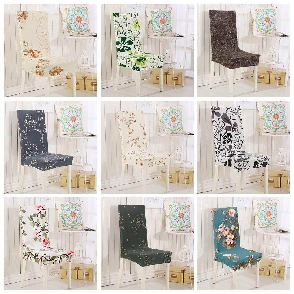 Chair Cover Patterns Chair Cover Flower Patterns Pastoral Style Chair Cover Spandex Elastic Banquet Seat Case Home Decor