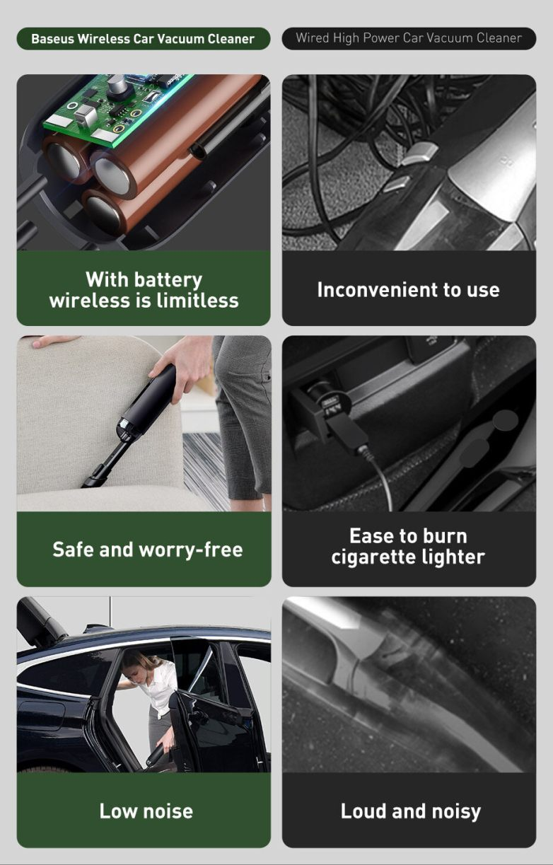 Baseus A2 Car Vacuum Cleaner 5000Pa For Car Home Office 8