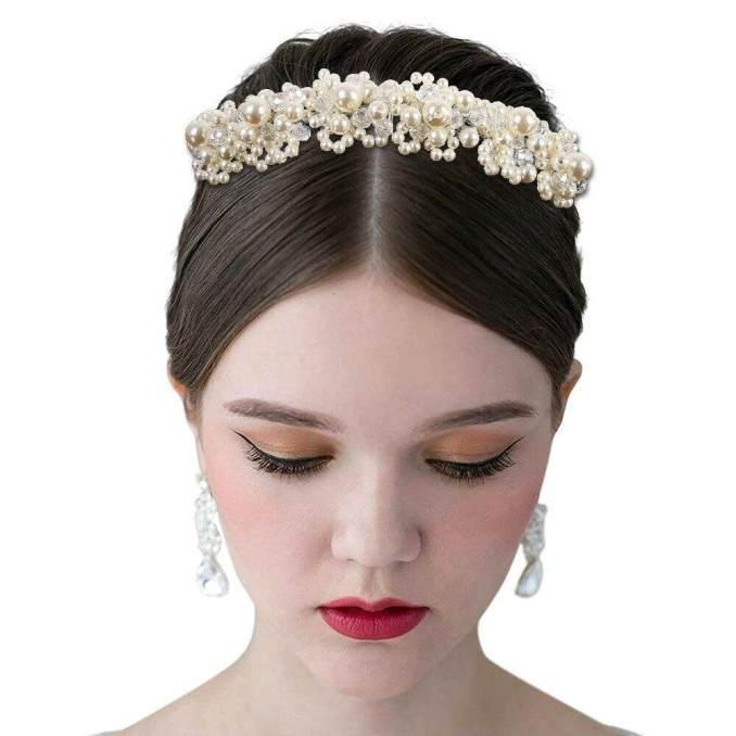 western fashion pearl hair accessories wedding fashion headdress for bride crown floral hairpin ornaments hair pins