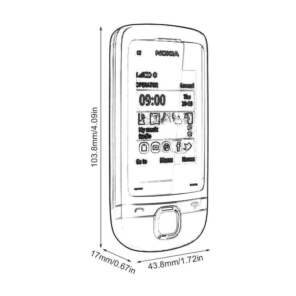 Crazy Sale Original Nokia C2-05 0.3MP Camera Radio