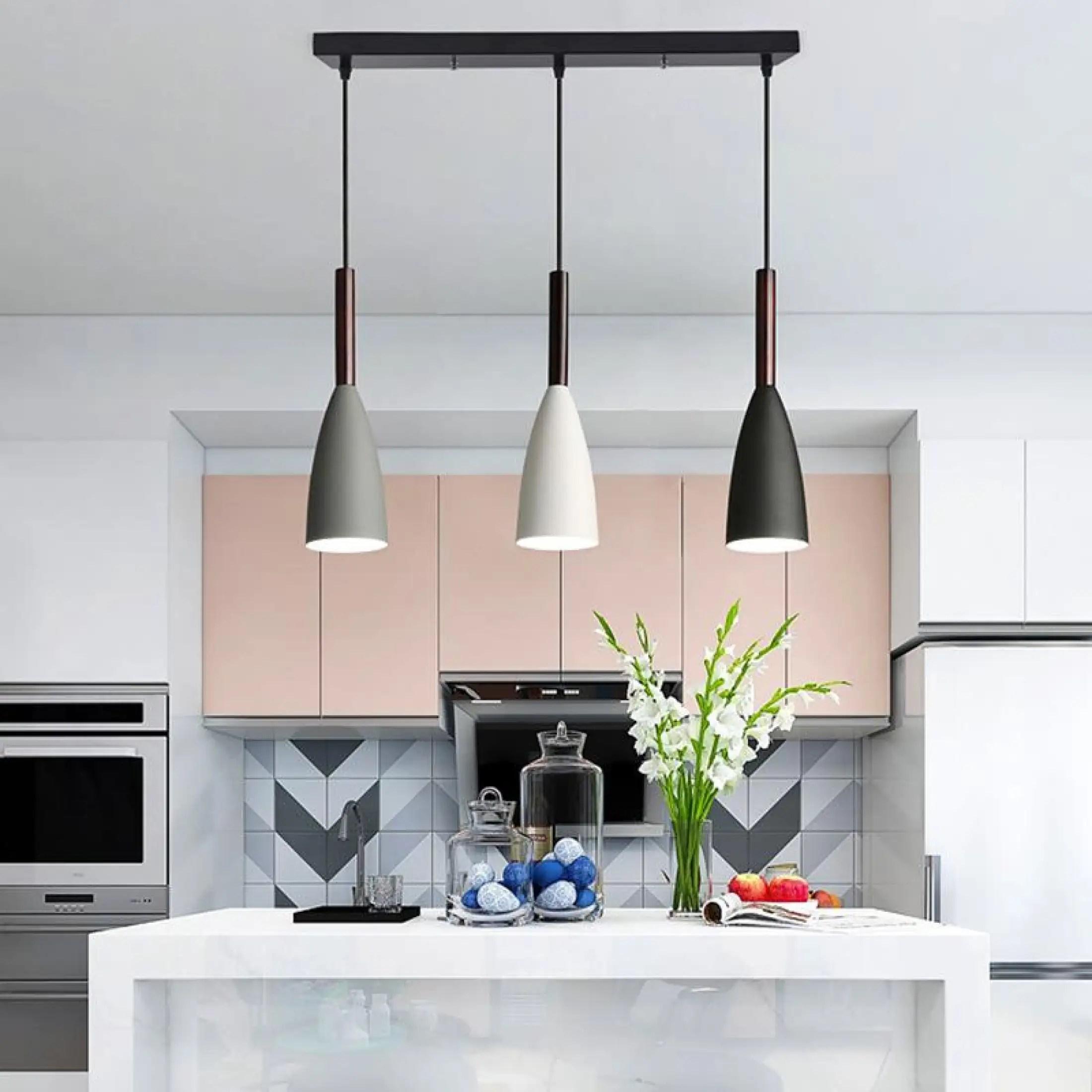 modern 3 pendant lighting nordic minimalist pendant lights dining table kitchen island hanging lamps dining room lights e27 free shiping