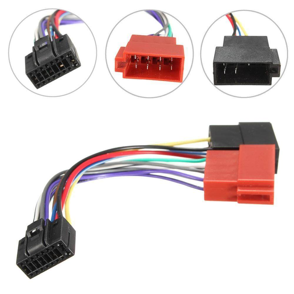 hight resolution of 1 x 16 pin car stereo radio iso connector adapter cable