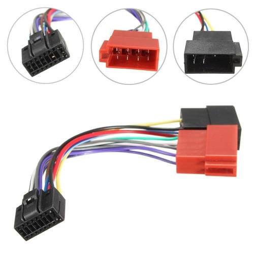 small resolution of 1 x 16 pin car stereo radio iso connector adapter cable