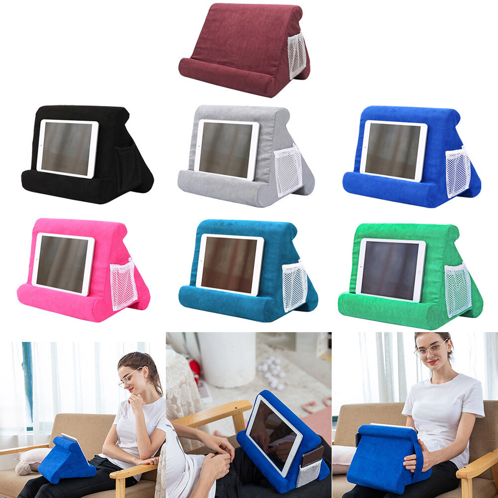 multi angle soft pillow pad tablet phone bracket universal lap stand for ipad tablet magazine holder pillow mobile phone hold