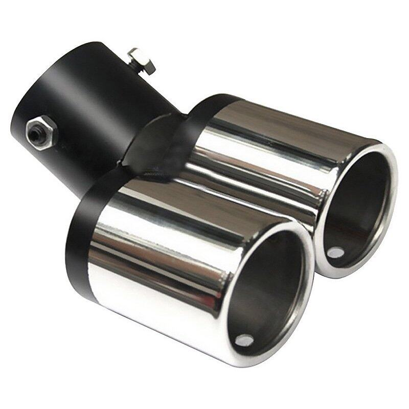 GETEK Twin Dual Exhaust Trim Tip Double Muffler Pipe