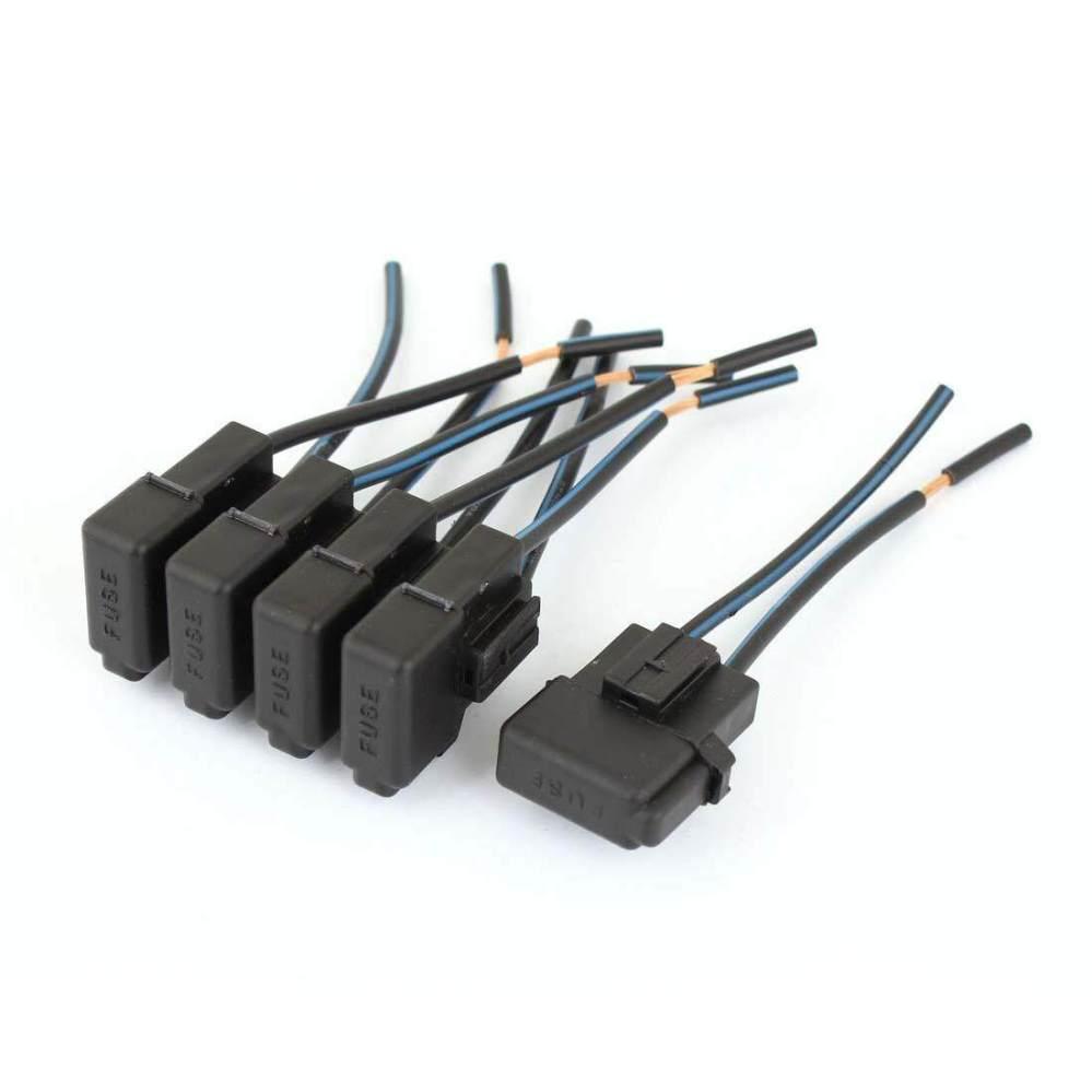 medium resolution of 5pcs car automotive audio inline atc blade inline fuse holder black dc 12v