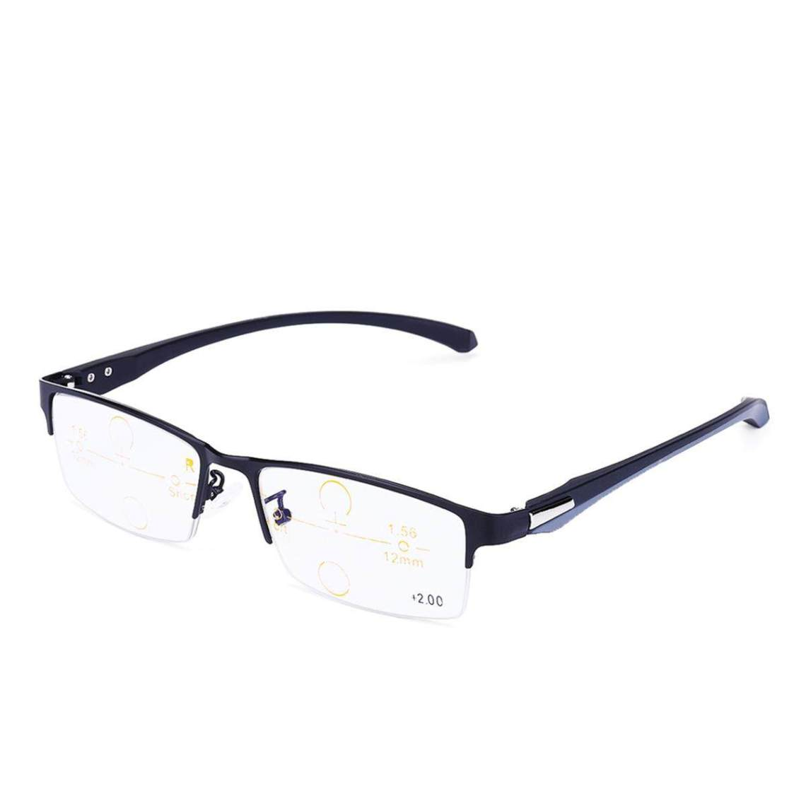 125 Degree Transition Photochromic Multi Focus Sun Presbyopic Progressive Reading Glasses