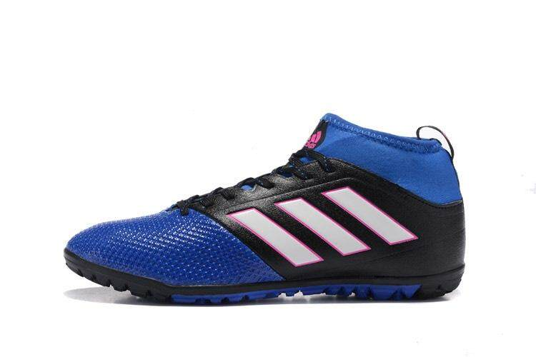 Timed Promotions New Lace-up Football Shoes ACE 17.3 Primemesh TF Soccer Mens Size 39-45 Indoor Football Sneakers (Blue/White/Black) - intl